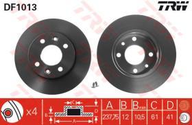 Trw DF1013 - Juego de discos de freno