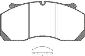 RH JSX2115700 - PASTILLA FRENO V.I. MERITOR/ROR