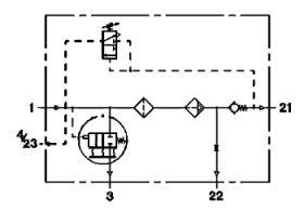 Wabco 4324100837 - Secador de un cartucho