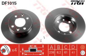 Trw DF1015 - Juego de discos de freno