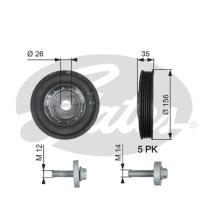 Gates TVD1007A - Amortiguador de vibraciones de torsión (Damper)