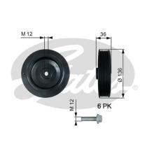 Gates TVD1010A - Amortiguador de vibraciones de torsión (Damper)