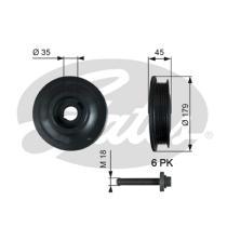 Gates TVD1012A - Amortiguador de vibraciones de torsión (Damper)