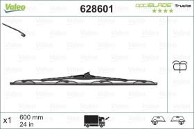 VALEO 628601 - Escobilla limpiaparabrisas OPTIBLADE 600 MM X1