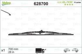 VALEO 628700 - Escobilla Limpiaparabrisas OPTIBLADE 650 MM  con surtidor X1