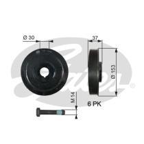 Gates TVD1006A - Amortiguador de vibraciones de torsión (Damper)